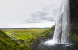 Cachoeira enorme Seljalandfoss Imagens de Stock