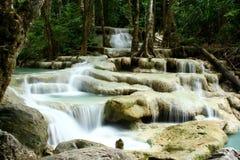 Cachoeira-Erawan Foto de Stock