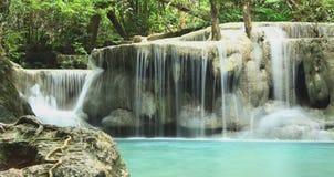 Cachoeira-Erawan Imagens de Stock Royalty Free