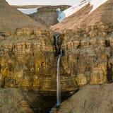 Cachoeira escondida altamente ártica Foto de Stock