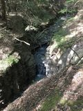 Cachoeira escondida, Belfast NY imagem de stock royalty free