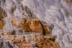 Cachoeira geológico, parque nacional de Yellowstone Imagens de Stock