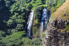 Cachoeira havaiana imagens de stock