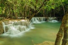 Cachoeira Huay Mae Kamin Fotografia de Stock