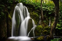 Cachoeira II dos lagos Plitvice Fotografia de Stock