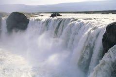 Cachoeira Islândia de Godafoss Fotografia de Stock