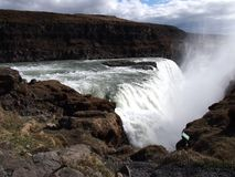 Cachoeira Islândia de Gullfoss fotografia de stock