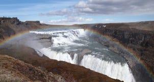 Cachoeira Islândia de Gullfoss Fotos de Stock Royalty Free