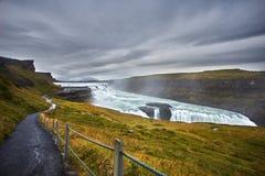 Cachoeira Islândia de Gullfoss Fotografia de Stock Royalty Free