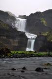 Cachoeira islandêsa Ofaerufoss Foto de Stock