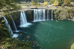 Cachoeira japonesa, cachoeira de Harajiri Fotos de Stock