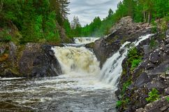 Cachoeira Kivach em Kareliya Imagem de Stock Royalty Free