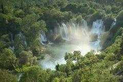 Cachoeira Kravica em Bósnia e em Herzegovina Fotografia de Stock Royalty Free