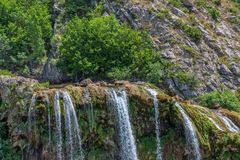Cachoeira Krcic em Knin Fotografia de Stock Royalty Free