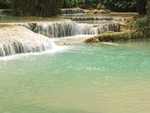 Cachoeira Kuang Si Fotos de Stock Royalty Free