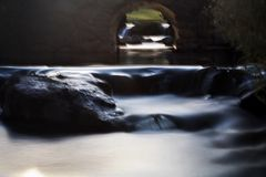 Cachoeira longa da expo Foto de Stock