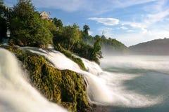 Cachoeira longa de Rheinfall da velocidade do obturador Foto de Stock Royalty Free