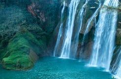 Cachoeira longa dos Bu do plutônio de Jiu Fotos de Stock Royalty Free