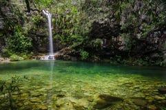 Cachoeira Loquinhas Chapada DOS Veadeiros Arkivbilder