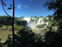A cachoeira a maior no mundo - lado de Foz de Iguaçu Argentina foto de stock