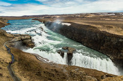 Cachoeira majestosa de Gulfoss imagem de stock royalty free