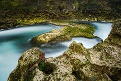Cachoeira majestosa do buk de Strbacki no rio Una em Bósnia imagens de stock royalty free