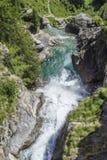 Cachoeira na cascata de Lillaz Fotos de Stock Royalty Free