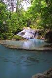 Cachoeira na floresta profunda Foto de Stock Royalty Free