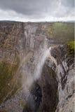Cachoeira na fonte do rio de Nervion fotos de stock royalty free