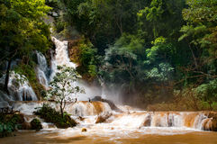 Cachoeira na monção foto de stock royalty free