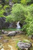 Cachoeira na montanha de Olympus, Gr?cia fotos de stock