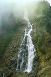 Cachoeira na névoa Fotografia de Stock