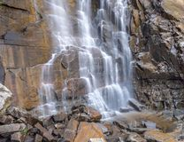 Cachoeira na rocha da chaminé, NC fotografia de stock