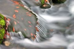 Cachoeira no Beskydy Fotografia de Stock Royalty Free