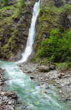 Cachoeira no desfiladeiro de Liechtensteinklamm (Áustria) fotografia de stock royalty free