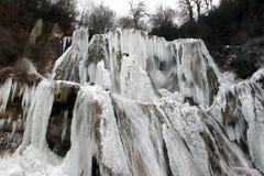 Cachoeira no inverno Imagens de Stock