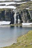 Cachoeira no lago Fotografia de Stock