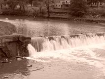 Cachoeira no moinho de Caplinger Fotos de Stock Royalty Free