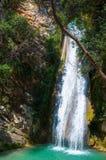 Cachoeira no Neda O Neda é um rio no Peloponnese ocidental em Grécia fotos de stock royalty free