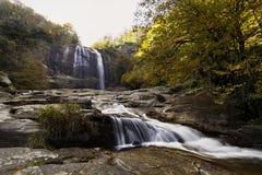 Cachoeira no outono Imagens de Stock