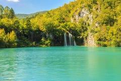 Cachoeira no parque nacional de Plitvice, Croácia Imagem de Stock Royalty Free