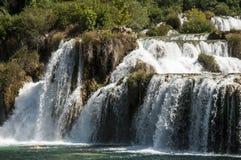 Cachoeira no parque nacional do krka Imagens de Stock