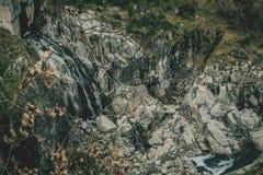 Cachoeira no reservoirtr belesar fotografia de stock