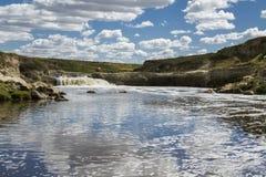 Cachoeira no rio Fotografia de Stock