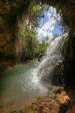 Cachoeira no rio de Vinalopo. Imagem de HDR. Imagens de Stock Royalty Free