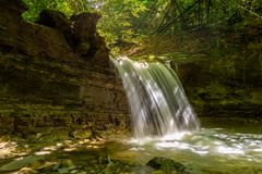 Cachoeira no rio Mebre 14 Imagens de Stock