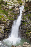 Cachoeira no vale de Nuria Fotos de Stock Royalty Free