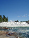 Cachoeira Noruega de Laksforsen Imagem de Stock