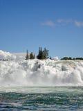 Cachoeira Noruega de Laksforsen Foto de Stock