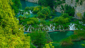Cachoeira nos lagos 4 Plitvice Imagens de Stock